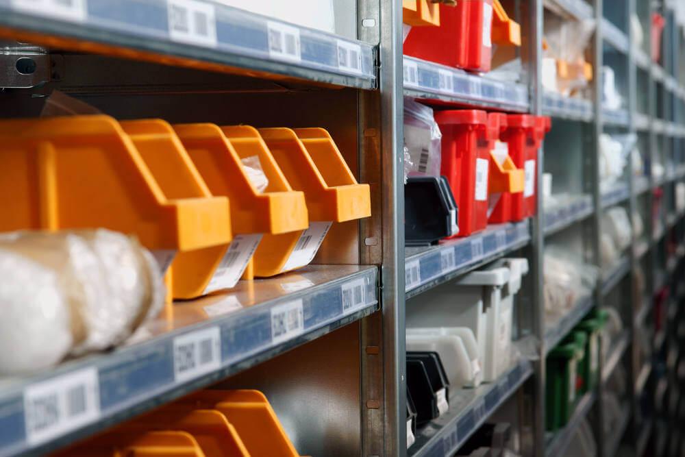 repair shop organization of spare parts ordered for repairing machines or equipment rental fleets