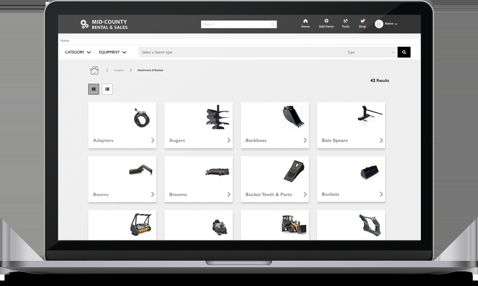 Enhanced Catalog laptop screenshot