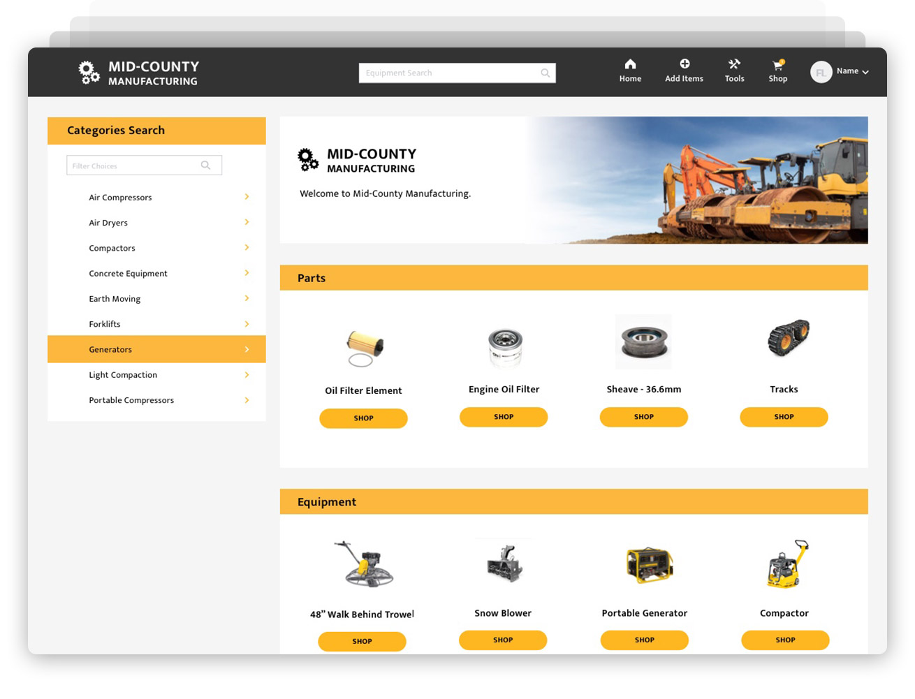 e-Commerce screenshot