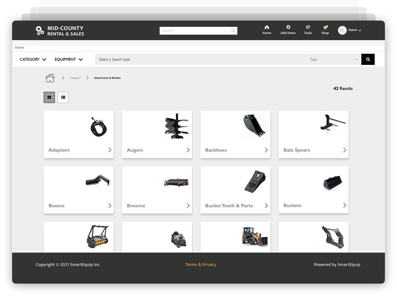 Enhanced Catalog screenshot